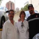 O senhor Rogério Gomes -  Administrador do Mercado Municipal,, Sandra e Cláudio
