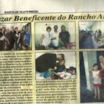 O bazar foi veiculado no jornal Gazeta de Vila Formosa